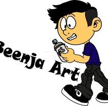 Beenja Art | logo de canal de Youtube . Un proyecto de Diseño, Animación, Diseño de personajes y Animación de personajes de Beenja Salinas         - 05.06.2017