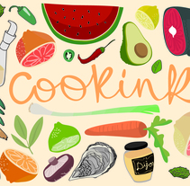COOKINK: Gastronomy and Graphisme. A Illustration, Graphic Design, and Vector illustration project by Mar Guixé-Magloire         - 14.06.2015