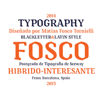 Tipografía Fosco, Premio Paco Bascuñán a la tipografía joven 2016. A Design, Graphic Design, T, and pograph project by Matias Fosco Tornielli - 15-06-2015