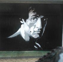 Cierre de Garaje Rotulado con pintura. Um projeto de Arte urbana de Ismael Pachón         - 21.06.2017