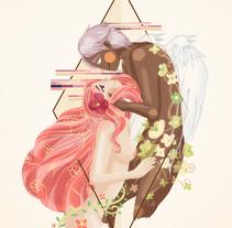 Cupido y Psique. A Illustration project by okosketch - 22-06-2017