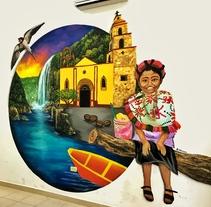 Mural Aquismon SLP. A Illustration, Fine Art, L, scape Architecture, Painting, and Street Art project by Héctor Armando Domínguez Rodríguez - 28-06-2017