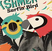 SURFIN' BIRD · Digipack Illustration & Re-design. A Design, Illustration, Editorial Design, Graphic Design, and Vector illustration project by Mapy D.H.         - 25.06.2017