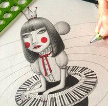 La Reina del Universo Musical. Um projeto de Ilustração, Design de personagens e Artes plásticas de Sonia Puga García         - 15.06.2016