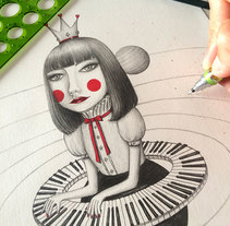 La Reina del Universo Musical. A Illustration, Character Design, and Fine Art project by Sonia Puga García         - 15.06.2016