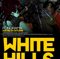 White Hills Poster. A Graphic Design project by PERRORARO         - 17.07.2013