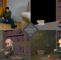 Progress shot - Mago. Un proyecto de Cine, vídeo, televisión, 3D, Animación, Vídeo y Animación de personajes de Oscar Carballo         - 19.07.2017