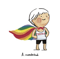 PROUD, orgullo. A Illustration project by andrea inwonderland         - 20.06.2017