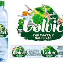 Propuesta Diseño Etiquetas - Volvic. A Design, Illustration, Character Design, Graphic Design, and Packaging project by Moisés Miranda         - 20.07.2017