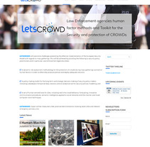 www.letscrowd.eu Web Design / Diseño Web. A Graphic Design, and Web Design project by Elena Doménech         - 07.08.2017