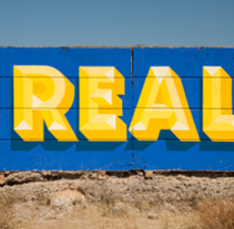 Real. A Painting, Street Art, and Lettering project by Sergi Solé - 08-08-2017