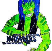 Diseño de logo para Invaders. A Design, Illustration, Music, Audio, Br, ing, Identit, Graphic Design, Painting&Icon design project by Alexia Sánchez Sancibrián         - 03.08.2017
