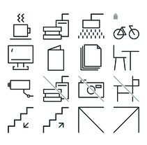 Diseño de pictogramas. A Pictogram design project by Cristina Mufer         - 15.11.2016