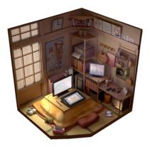 Anime room. A 3D project by Julia Rangel - 18-09-2017