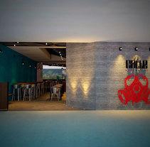 restaurant la calle. A 3D, Animation, Architecture, Interior Architecture&Interior Design project by jordi reglá         - 19.09.2017