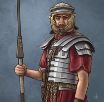 Legionario Romano. A Illustration project by Rubén Megido         - 20.09.2017