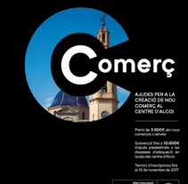Cartel promoción nuevos Comercios para el Centro de Alcoi. A Photograph, and Graphic Design project by Punts suspensius  ilustración y diseño  - 28-09-2017