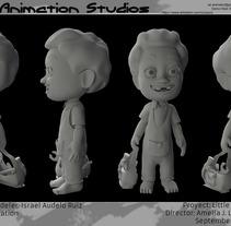 Gabriel,  3D Character. . Un proyecto de Diseño, Ilustración, Cine, vídeo, televisión, 3D, Animación, Dirección de arte, Diseño de vestuario, Cine, Televisión y Animación de personajes de Israel  Audelo Ruiz - 02-10-2017
