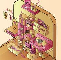 Micromundo 2.0 / la era del estudiante. A Illustration, and Vector illustration project by Marta Rivera         - 02.10.2017