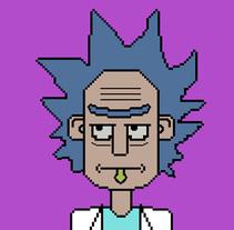 Rick and Morty, Pixel & Fan Art.. Un proyecto de Ilustración de Carlos Vargas Gutiérrez         - 03.10.2017