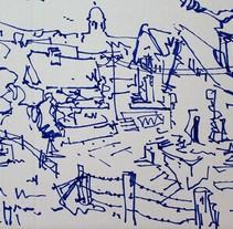 ARQUITECTURAS - DIBUJO SUELTO 1. Un proyecto de Ilustración de Ekain J.         - 04.10.2017