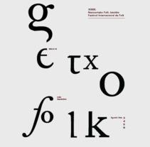 Rediseño de producto Editorial - Folleto informativo Getxo Folk. A Editorial Design, and Graphic Design project by Leire Bermúdez         - 26.05.2016