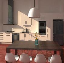 3D Interior. A Design, 3D, Accessor, Design, Architecture, Cooking, Furniture Design, Interior Architecture, Interior Design, and Lighting Design project by Maria Alejandra Rivera Veintemilla         - 20.10.2017
