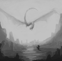 Concept art - Dragon volador. A Illustration project by Alejandro Figueroa         - 05.03.2016