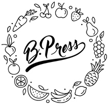 Juice B. Press: logo and label for packaging. A Graphic Design project by Claudia Braz Suares         - 15.07.2016