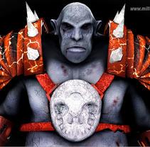 Ogro - Personaje. A 3D project by Milton Veliz Coronel         - 30.10.2017
