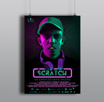 Cartel Scratch - Cortometraje. A Design, Photograph, Film, Video, TV, Art Direction, Graphic Design, and Vector illustration project by María Cano         - 02.11.2017