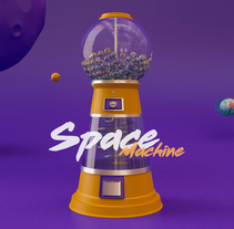 SpaceMachine. A Motion Graphics, 3D, and Animation project by Alan Sánchez Flores - 03-11-2017