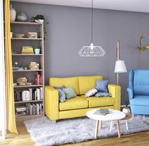 Vivienda mínima: apartamento de 36m2. A 3D, Interior Design&Infographics project by Diana Alonso         - 02.12.2016