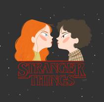 Stranger Things fanart. Um projeto de Ilustração de lorena sanchez roman - 08-11-2017