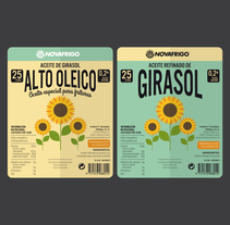 ETIQUETAS ACEITE GIRASOL. A Art Direction, Graphic Design, Packaging, and Vector illustration project by IDEOTAS        [GR4ND35 1D345]         - 15.11.2017