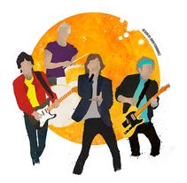 The Rolling Stones . Um projeto de Design, Ilustração, Artes plásticas, História em quadrinhos, Retoque digital e Ilustración vectorial de Jokin Fernández - 21-11-2017
