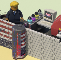 La Obsesión de Trump. A 3D, Animation, Editorial Design, and Character animation project by Pedro Masa Parra         - 27.11.2017