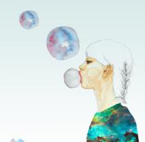 Mi Proyecto del curso: Retrato ilustrado en acuarela. A Illustration project by Caro Chan - 04-12-2017