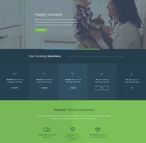 Thrivest, Legal finance website. A Web Design project by Six Design         - 04.12.2017
