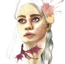 Mi Proyecto del curso: Retrato ilustrado en acuarela. A Design&Illustration project by Almudena La Orden         - 21.12.2017
