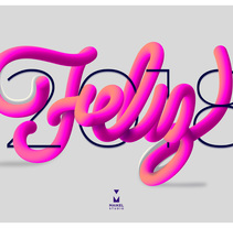 Feliz 2018. A Design, Advertising, and Lettering project by Maikel Martínez Pupo - 03-01-2018