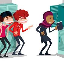 Ayuntamiento de Madrid respecta la diferencia. Contra el bullying. Un proyecto de Ilustración, Diseño de personajes e Infografía de Jorge de Juan - 04-09-2017