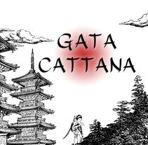 Cartel homenaje Gata Cattana. Un proyecto de Diseño gráfico de Cristina Rodríguez Gómez         - 09.01.2018