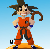 Son Goku. A Illustration, 3D, Animation, Character Design, Fine Art, and Comic project by Daniel Zapata Viciana         - 14.01.2018