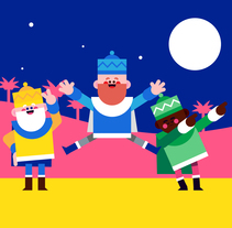 Christmas Characters. A Animation, Character animation, and Vector illustration project by Moncho Massé - 22-01-2018
