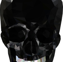 Black skull poly / Low poly . A Illustration, Graphic Design, and Vector illustration project by Schedel  - 25-01-2018