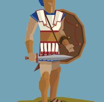 Guerrero Aqueo. A Illustration, Character Design, and Vector illustration project by Daniel Diaz Estrada         - 07.02.2018