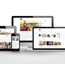 Web estudio de tatuajes, Intitattoo. Un proyecto de Diseño, Consultoría creativa, Diseño gráfico, Arquitectura de la información, Diseño Web, Arte urbano y Retoque digital de Daniela Nettle - 18-06-2017