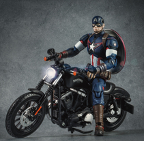 Capitán América en su Harley. A Photograph project by David Fuentes         - 15.02.2018