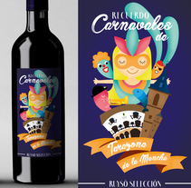 Vino Carnaval. A Design, Illustration, Graphic Design, Packaging, and Vector illustration project by Almudena La Orden         - 12.02.2018